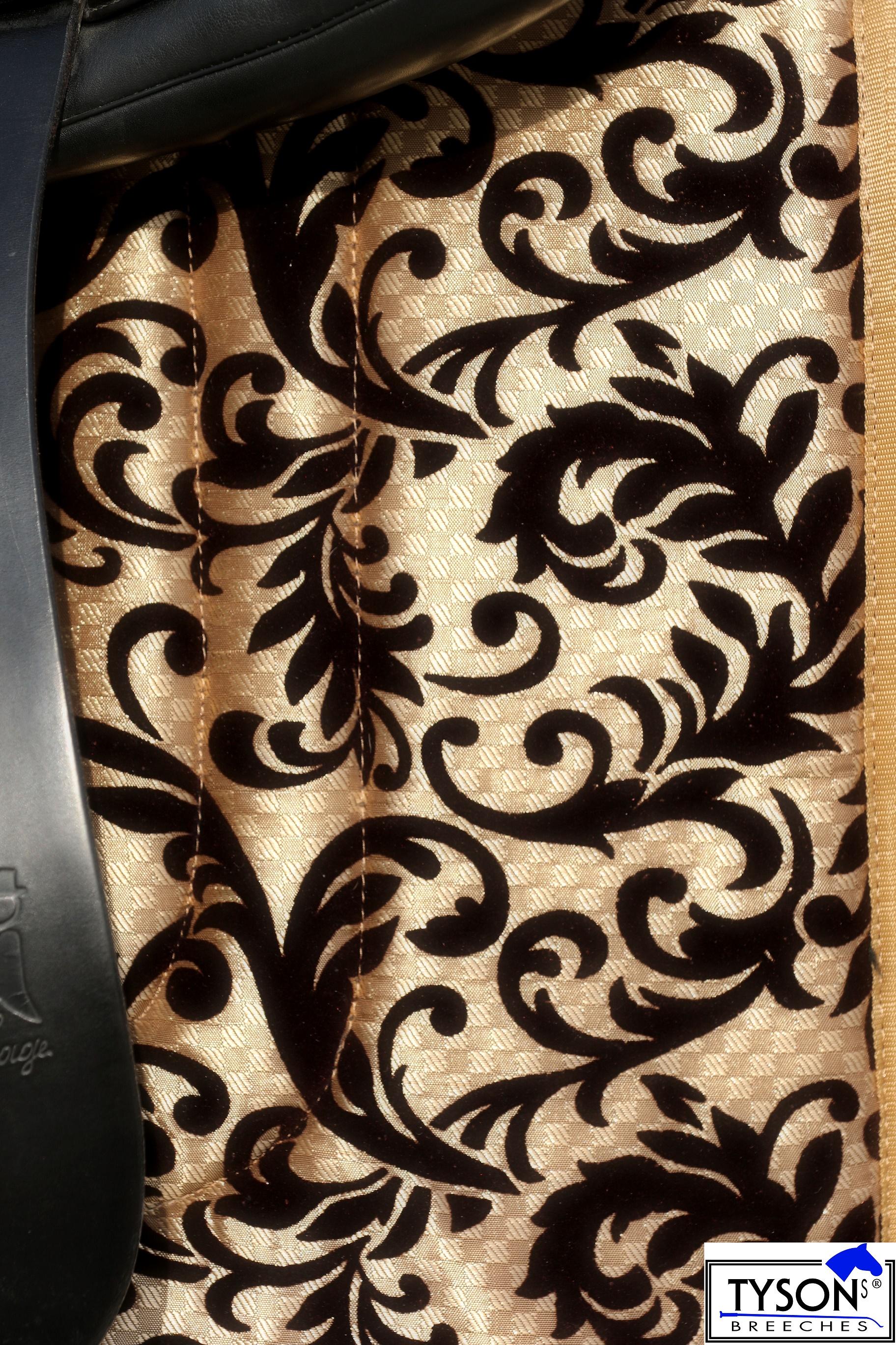 Schabracke antik spanisch barock braun schwarz gold farben vs dr dick anatomisch ebay - Schabracke braun ...