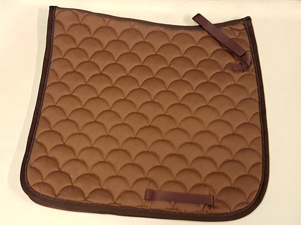 Schabracke braun nougat schooki dressur satteldecke baumwolle waffel inside ebay - Schabracke braun ...