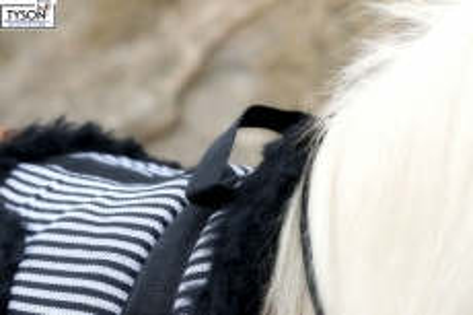 Barepad Reitkissen Fleece Plüsch Schwarz/Weiß Minishetty Shetty Pony