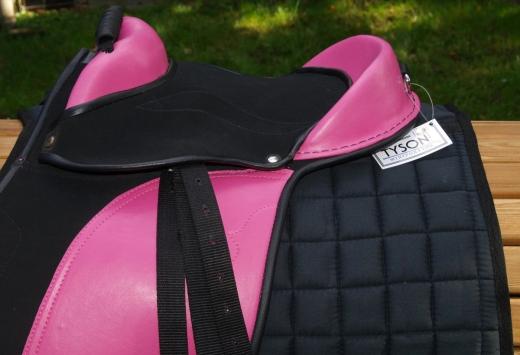Sattel für Spielpferd /auch fürs Holzpferd 10 12 Zoll Pink Blau