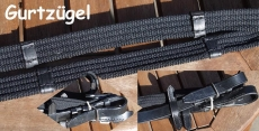 Gurtzügel Zügel 3  oder 4 Meter lang WB Kaltblut  Schwarz