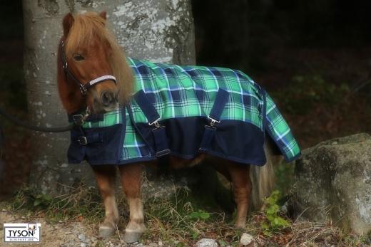 1200 D Grün Karo Winterdecke Regendecke nur Fleece ohne Füllung 65 70 75 80  85 90 95 100