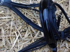 BLACK only Trense Lack Leder VB WB X- Full Steine Schwarz