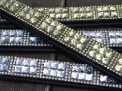 Strass Stirnband Super Glitzer Silber- oder Goldfarben VB