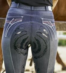 Jeans Reithose Vollbesatz Grip 36 38 40 42 44 46 48 AKTION