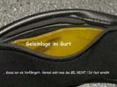 Kurzgurt Geleinlage Mondgurt Lastik Verschnallung 45-90cm Schwarz o Braun