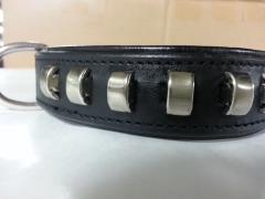Schmuckhalsband Rechteck Leder Halsband Gr. M 40-46 cm