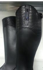 Damen / Kinder Chaps KROKO Style Leder Stiefelschäfte