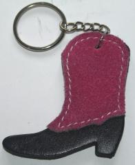 Mini Trense Schlüsselanhänger Leder Stiefel o. Sattel Rosa
