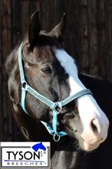 Halfter  Nylon Hellblau  GLITZER ! Shetty Pony MS S P VB WB