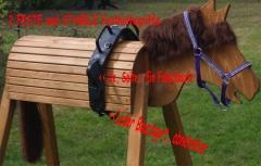 Volti Gurt Voltigiergurt für Holzpferd geeignet Leder div. Größe
