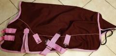 Braun Rosa 600 D Regendecke 75 cm High Neck Fleece Lining