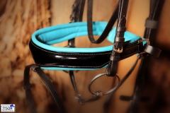 Trense Ice Blue  Lack / Leder Butterweich VB WB Extra Full Hellb