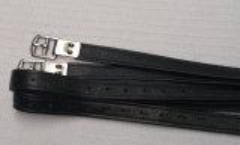 Steigbügelriemen WEICH Nylon Einlage 145 155 cm 12 Lö Nummeriert