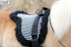 Barepad Reitkissen Fleece Plüsch Schwarz/Weiß Minishetty Shetty