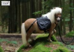 Wanderrucksack Minipony- Shetty Schwarz Braun Blau Rucksack Packtasche LIEFERZEIT 5 Wochen !!!!