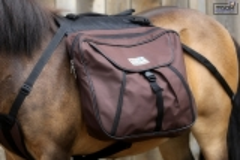 Wanderrucksack Minipony- Shetty Schwarz Braun Blau Rucksack Packtasche