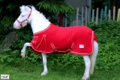 Abschwitzdecke  Fleece ROT Knallrot 60 65 70 75 80 85 90 95 100