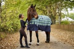 1200 D Grün Karo Fleece Lining Regendecke ohne Füllung 155 165 cm