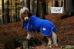 Abschwitzdecke Royal Blau Glitzer Anti Pilling Fleece Gr. 60 70 80 90 100 cm