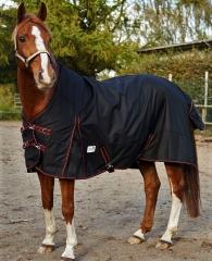 600 D High Neck Regendecke ohne Füllung Fleece Lining 145 155 165 Schwarz Rot