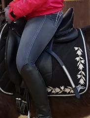 Sattel Dressursattel Donna weiches Anti Slip Leder 17,5 Zoll + Kopfeisen Kurz~ 52 cm