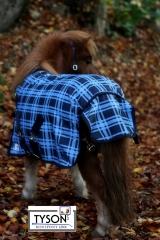 600 D Regendecke Fleece Futter Blau Karo 65 75 85 95 105  cm