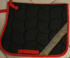 Schabracke Shetty  Schwarz Rot + Glitzer Einzelstück / Muster