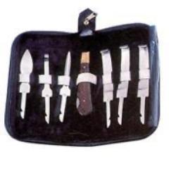 Hufpflege Set im Etui 8-teilig Messerset