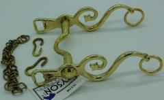 Barock Spanisch Kandare Gold / Silber Farben 12,5 13,5 14,5 15,5 16,5 Show