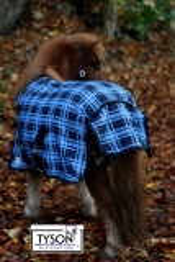 600 D Regendecke SIR Purzl Fleece Futter Blau Karo 65 75 85 95 100 cm